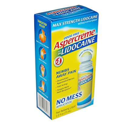 Picture of Aspercreme Lidocaine No Mess Liquid Roll On 2.5 oz.