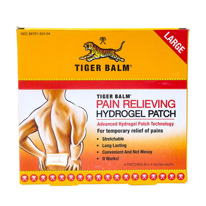 Picture of Tiger Balm Pain Relieving Hydrogel Patch Large 4/Ct
