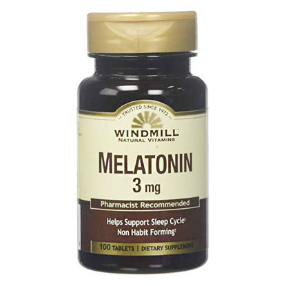 Picture of Melatonin 3mg Tablets 100/Ct