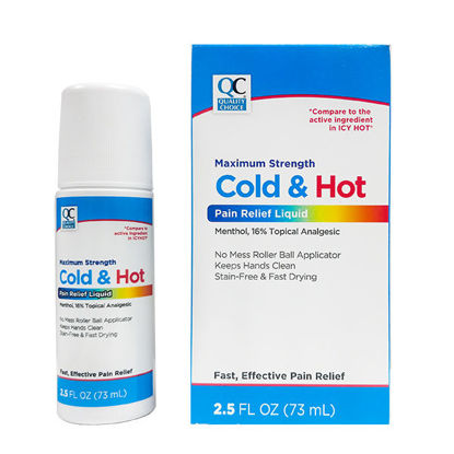 Picture of Maximum Strength Cold and Hot Pain Relief Liquid Roll On 2.5 fl. oz.